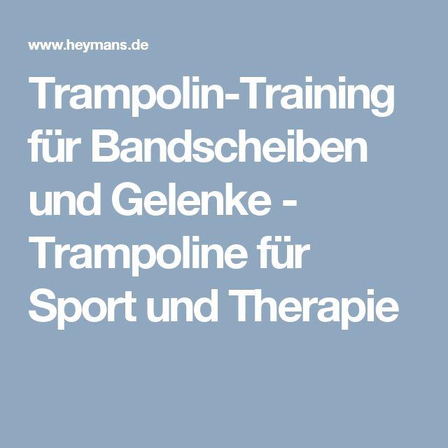 Trampolin-Training für Bandscheiben und Gelenke - Trampoline für Sport und Therapie