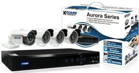 KGuard 4 Channel Aurora Series Combo Kit - KGuard