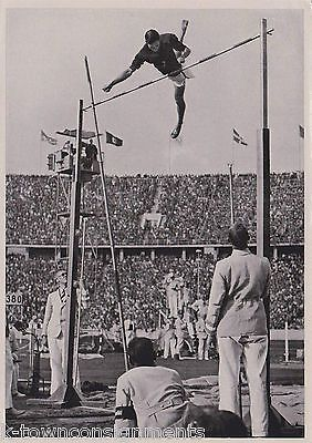 NISHIDA JAPANESE HIGH JUMPER 1936 GERMANY OLYMPIC ATHLETE VINTAGE PHOTO CARD