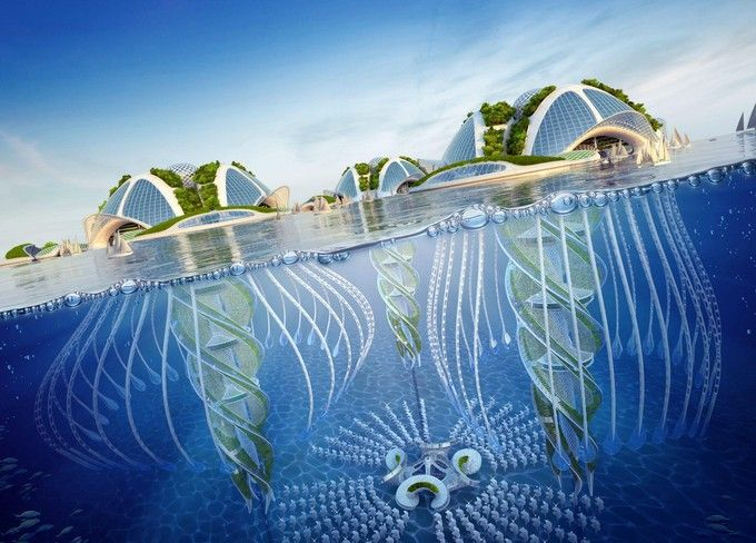 Les 10 meilleures images du tableau les meriens sur for Architecture futuriste ecologique