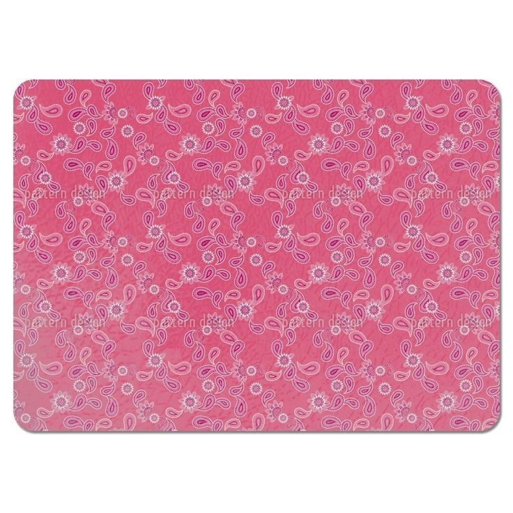 Uneekee Paisley in Pink Placemats (Set of 4) (Paisley In Pink Placemat)
