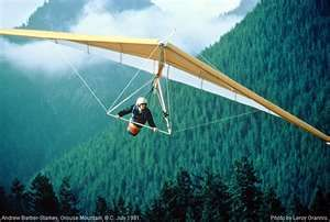 my next challenge! Scheduled for this summer - hanggliding
