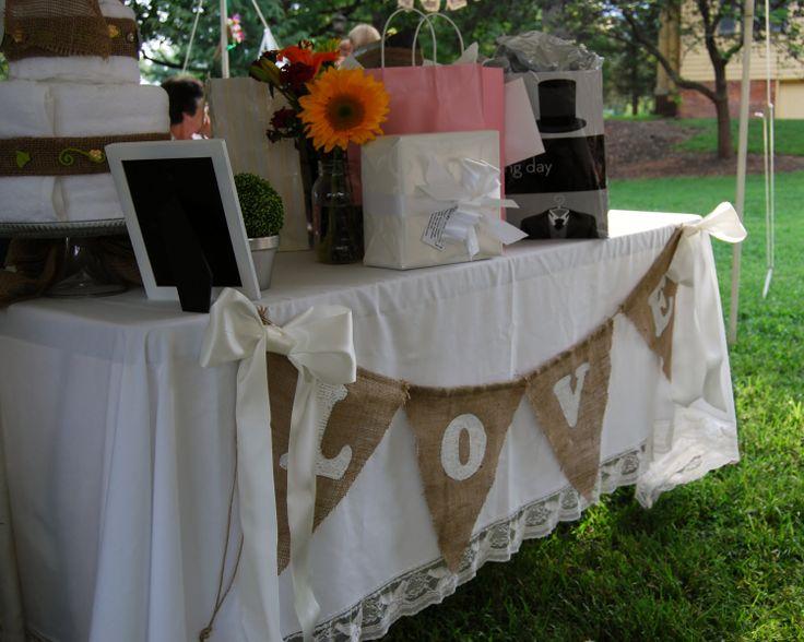 Burlap banner burlap wedding sign rustic wedding banner. $39.00, via Etsy.