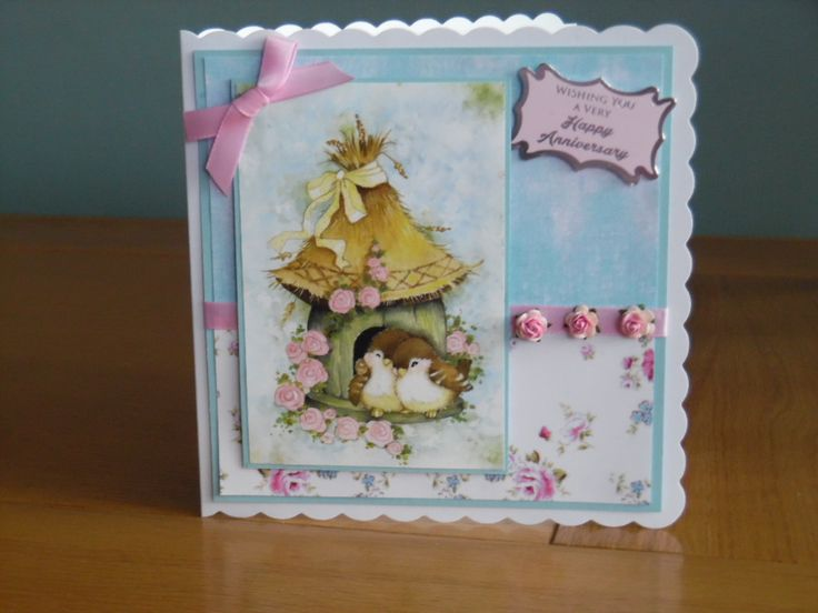 Anniversary Card using Hunkydory little book of patchwork forest