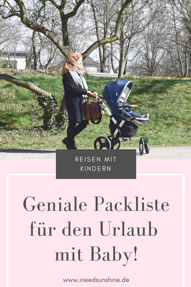 Geniale Packliste für den Urlaub mit Baby: Checkliste für das Verreisen mit Baby! Nichts mehr vergessen, stressfrei Urlaub machen! Mein Mamablogger-Tipp für euch. Schaut mal vorbei!