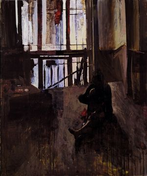 Woman seated on the floor, Giorgios Rorris