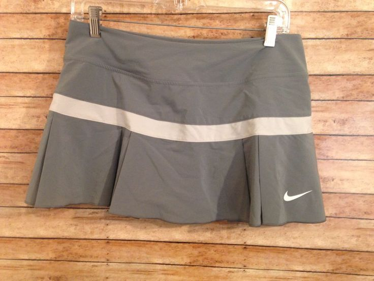 Womens nike tennis skort Size M Dri-fit Reflective Gray Pleated #Nike #SkirtsSkortsDresses