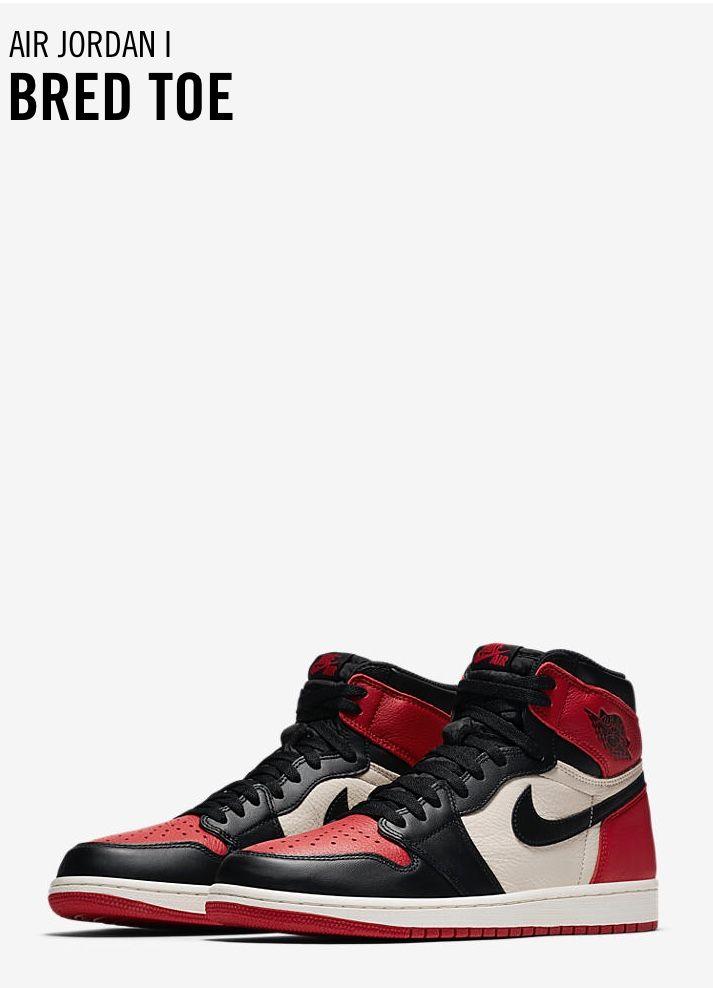Jordan Retro 1 Bred Toe Shoes Wallpaper Me Too Shoes Sneaker Closet