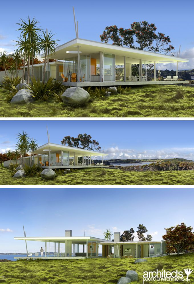 96 best nz bach desire images on pinterest for Beach house designs in new zealand