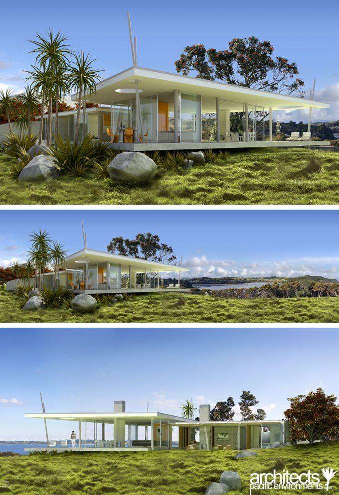 96 best nz bach desire images on pinterest for Beach house designs new zealand