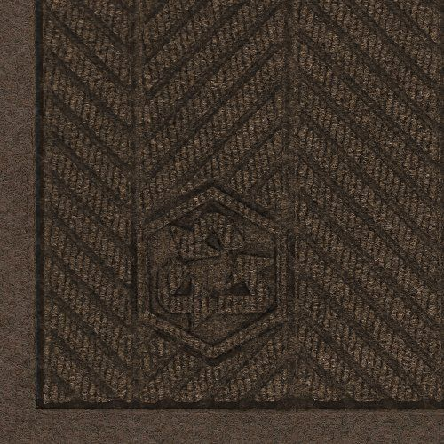 Andersen 2241 Chestnut Brown PET Polyester Waterhog ECO Elite Fashion Entrance Mat, 3' Length x 2' Width, For Indoor by Andersen. $40.75. The attractive high performance WaterHog eco elite fashion combines the performance features and unique herringbone face pattern of the WaterHog eco elite mat and adds an attractive fabric border made of the same green friendly 100 percent post consumer recycled PET polyester fiber system that is reclaimed from plastic bottles. The ...