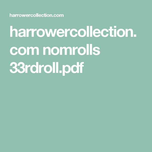harrowercollection.com nomrolls 33rdroll.pdf