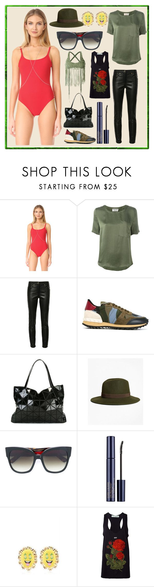 """""""Variety Of Style"""" by cate-jennifer ❤ liked on Polyvore featuring Chan Luu, Essentiel, Boutique Moschino, Valentino, Bao Bao by Issey Miyake, Brooks Brothers, Gucci, Bijoux de Famille, Off-White and Amir Slama"""