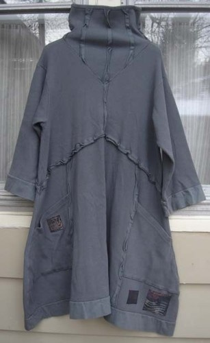 neat neck details on this thermal tunic dress