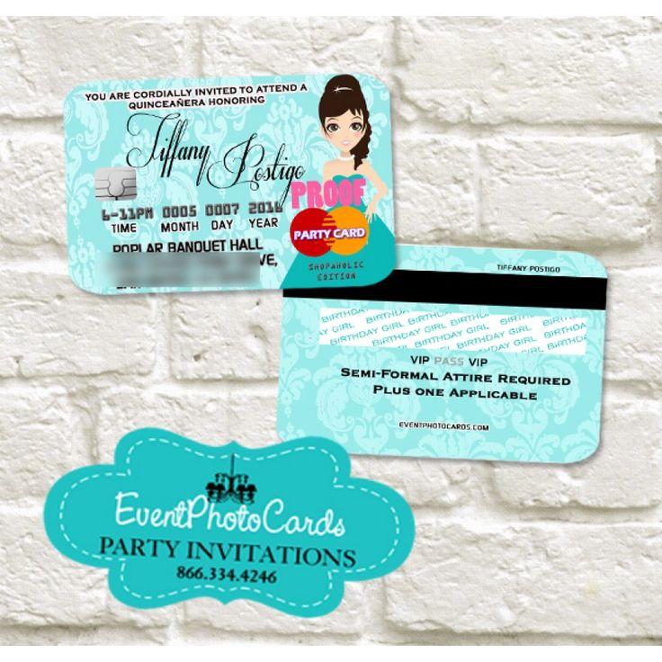 21 Mejores Imagenes De Credit Card Invitations En Pinterest