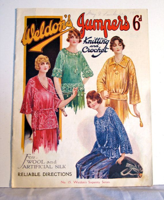 Vintage 1920s Knitting Pattern Book  Weldon's by VioletsEmporium, $48.00