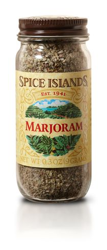 A close cousin of oregano, marjoram has a milder and less peppery taste, making it ideal for enhancing more delicate flavors. It's also an essential ingredient in classic spice blends like bouquet garni and herbes de Provence.   - See more at: http://www.spiceislands.com/Spices_and_Herbs/Marjoram#sthash.yZolrrXy.dpuf