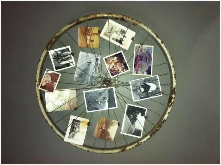 Re-Think a Bicycle Wheel into a Picture Display