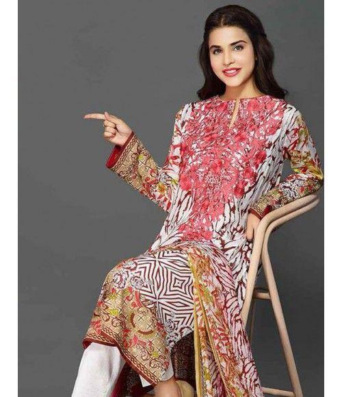 Rangrasiya Embroidered Lawn Collection 2016 D-11005A