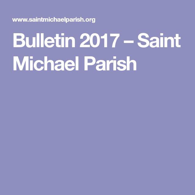 Bulletin 2017 – Saint Michael Parish