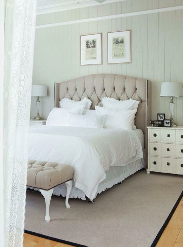 Tufted Bed Head In 2019 Hamptons Bedroom Hamptons Style