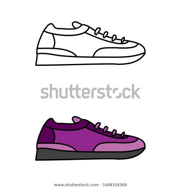Cartoon Drawing Sneaker Temaju Stockvektorkep Jogdijmentes 1498334369 การ ต น รองเท าผ าใบ