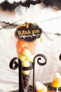 Halloween baby shower favors