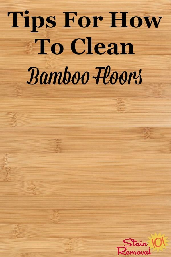 How To Clean Bamboo Floors Tips And