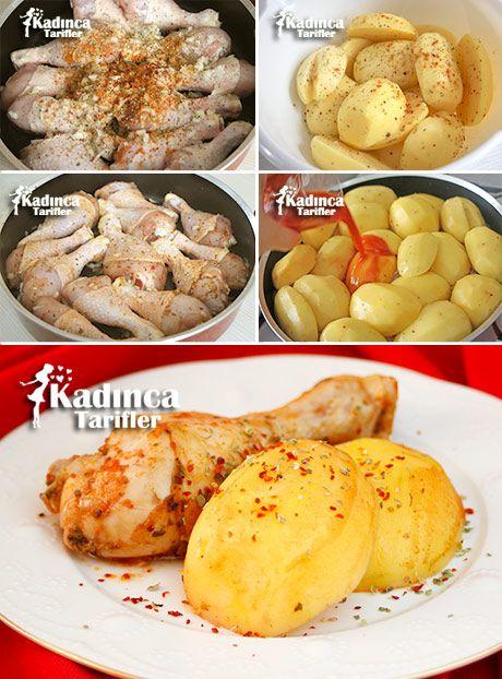 TENCEREDE PATATESLİ TAVUK BAGET TARİFİ http://kadincatarifler.com/tencerede-patatesli-tavuk-baget-tarifi