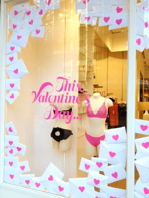Five Non-Traditional Valentine's Window Displays | The Mannequin Madness Blog