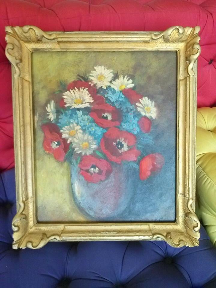 Dipinto olio su tela metà 1900, vaso di fiori. Prezzo speciale! di LaTribuDellArte su Etsy