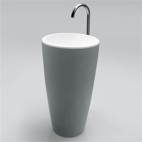 How's this for a unique floor standing basin? http://www.bathroomheaven.com/basins/estefini-solid-surface-floor-standing-basin-in-matt-white-solid-surface-29755.aspx