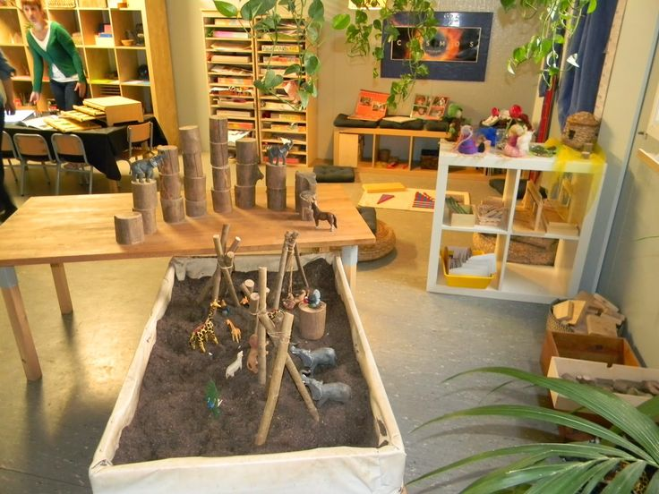 Inviting spaces for children  This school has an interesting mix of Reggio and Montessori materials as a part of the classroom environment