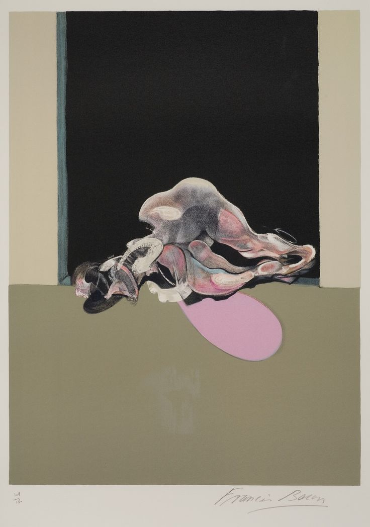"Francis Bacon, Triptych 1972, Centre Panel - 90 x 62.5 / 36"" x 25"". Lithograph, signed, edition 109 of 180 Price : SOLD."