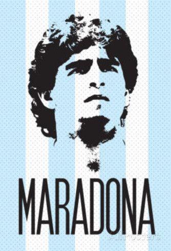 Diego Maradona (Argentina Football) Sports Poster Print Poster