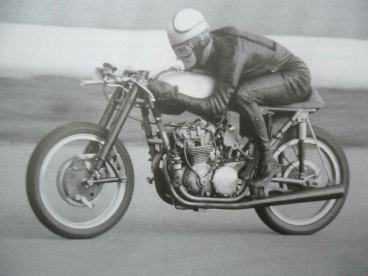 Mike Hailwood - testing a 350 Ducati at Silverstone