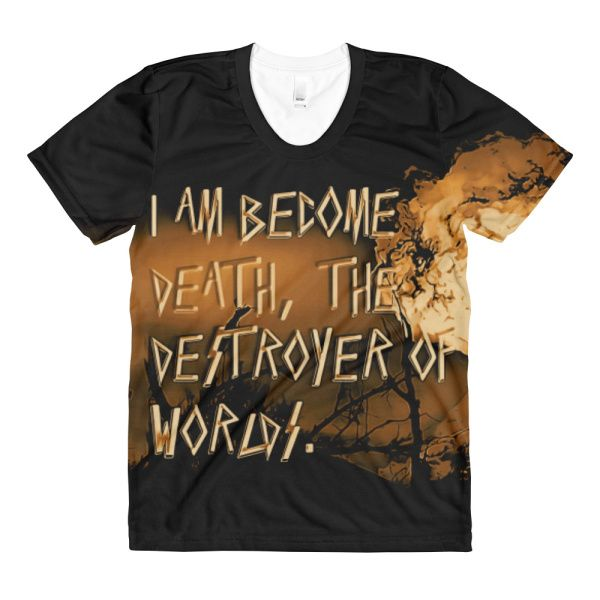 Atom Blast Sepia Oppenheimer quote Created by Casemiro Arts  - Nothing beats a good tee, and this classic shirt will surely be a winner!