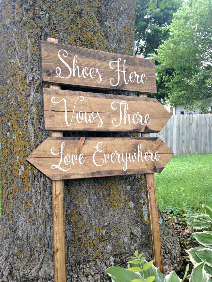 Beach Wedding Sign Beach Wedding Decor by WoodenThatBeSomethin