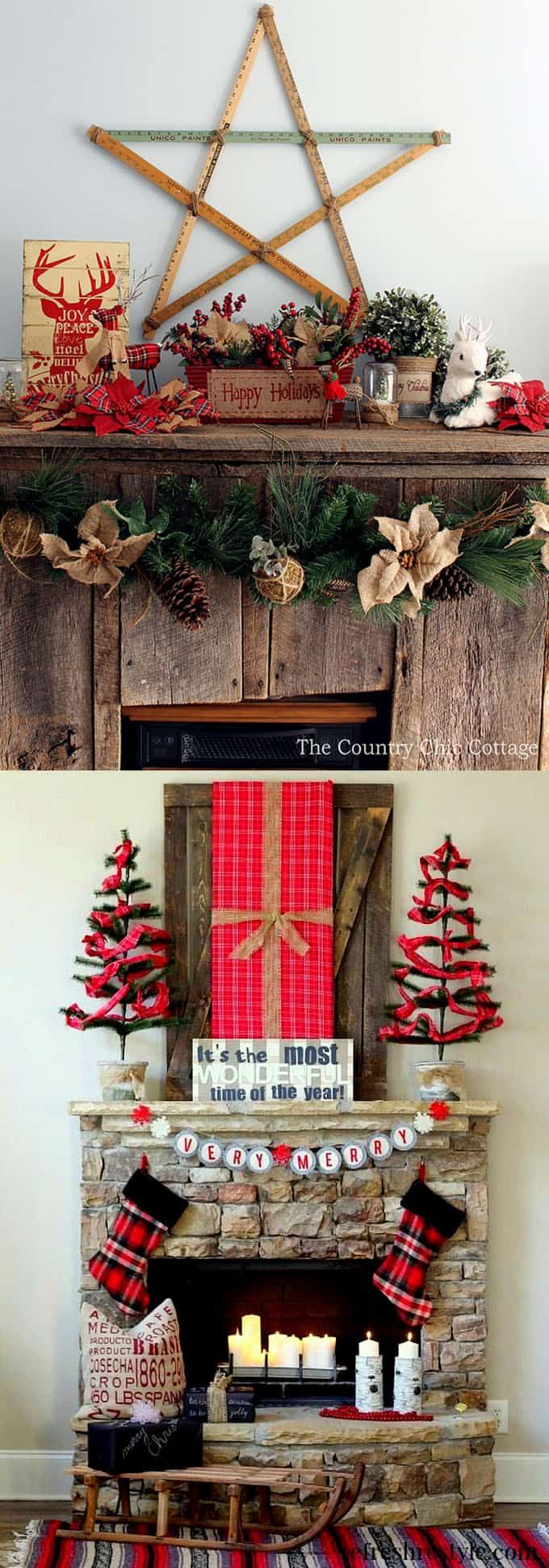 más de 25 ideas increíbles sobre decorate fireplace for christmas