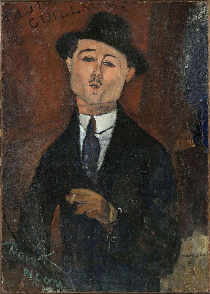 Amedeo Modigliani: Paul Guillaume, Novo Pilota, 1915, olaj, karton, 105 × 75 cm