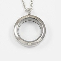 Medium silver locket $26.00