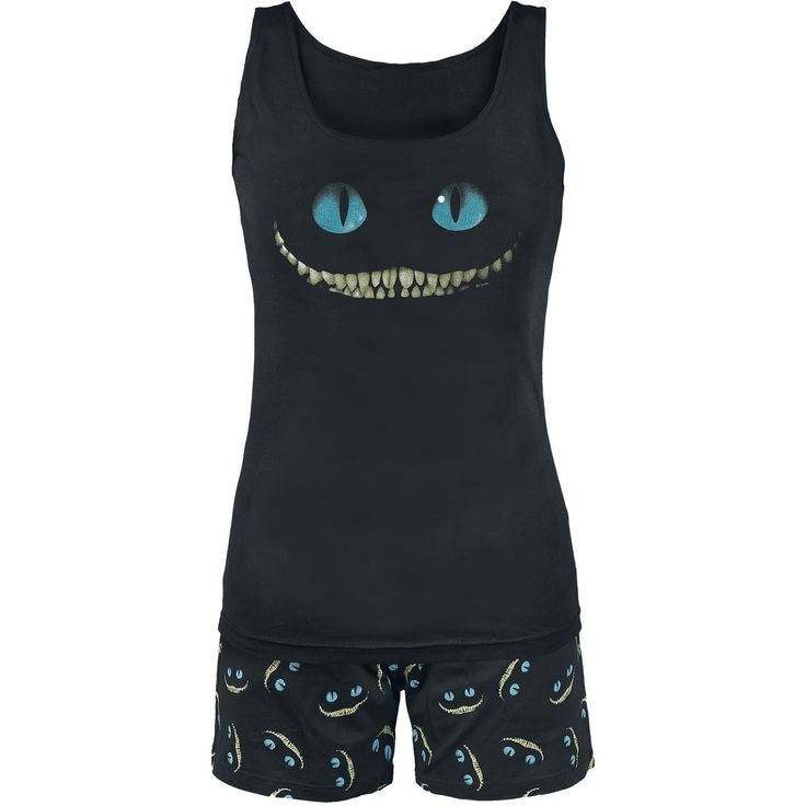 "Alice In Wonderland Pyjamas, Damer ""Smile"" sort • EMP"