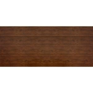 Martin Garage Doors Wood Collection Summit 16 ft. x 7 ft. Flush Panel Walnut Woodgrain Steel Back Insulation Garage Door-HDIY-001021 at The Home Depot