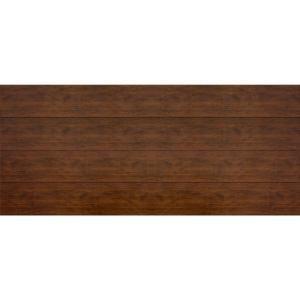 Martin Garage Doors Wood Collection Summit 16 ft. x 7 ft. Flush Panel Walnut Woodgrain Steel Back Insulation Garage Door-HDIY-001021 at The Home Depot