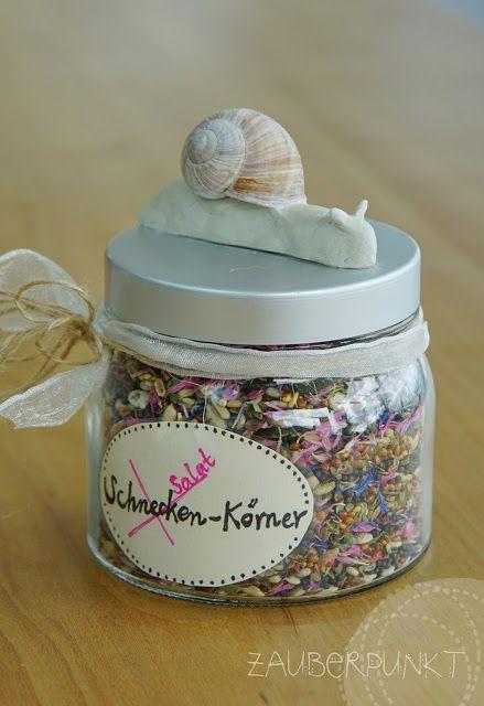 DIY - Tutorial für ein Geschenk basteln mit Kindern - Salatkerneglas