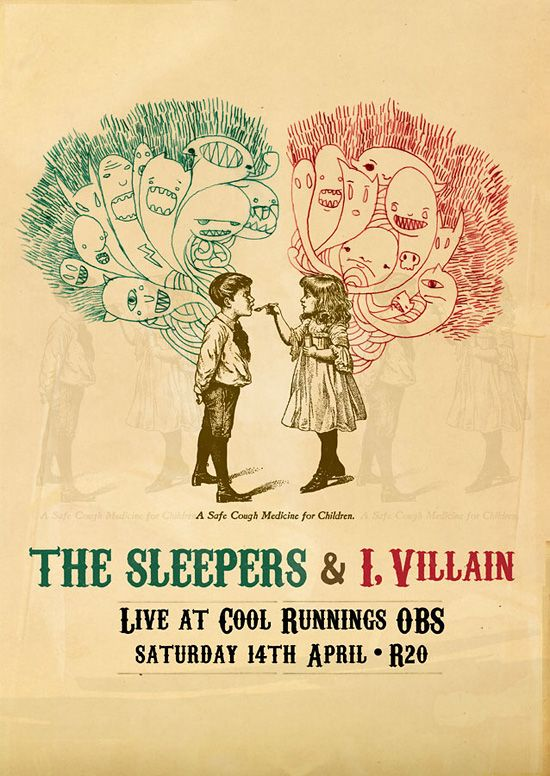 The Sleepers concert poster by Adam Hill.