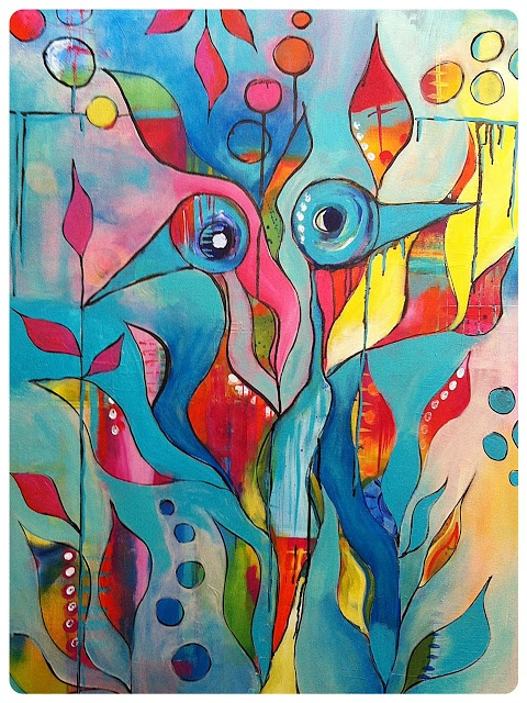 Scrappassie Blog: Brave Intuitive Painting