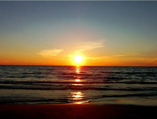 Sauble Beach sunset! .... a perfect way to finish any hard day of lounging on the beach.