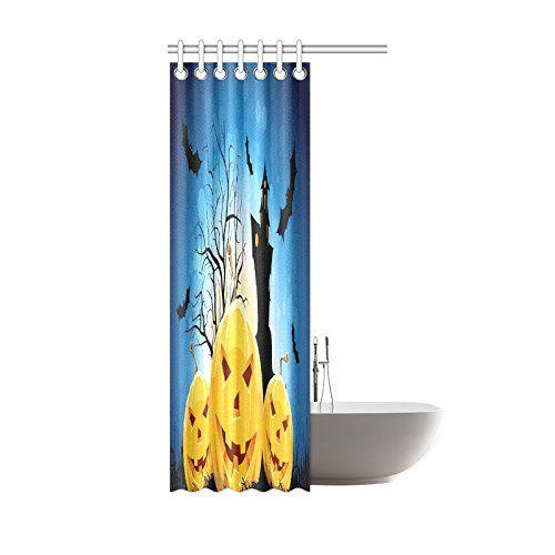 Happy Halloweens Day Gifts Waterproof Bathroom Decor Fabric Shower