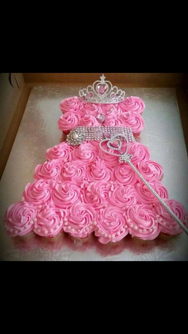 Cupcake Dress Birthday Cake